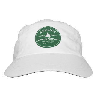 Retro Family Reunion or Trip | Rustic Pine Trees Headsweats Hat