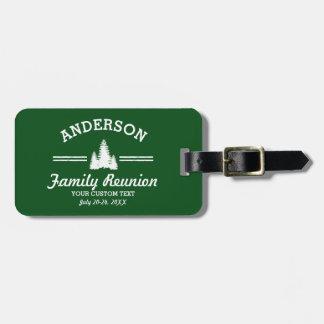 Retro Family Reunion or Trip | Rustic Pine Trees Luggage Tag