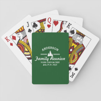 Retro Family Reunion or Trip | Rustic Pine Trees Playing Cards