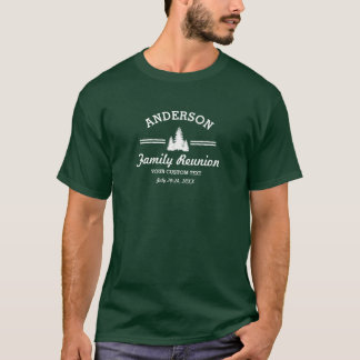 Retro Family Reunion or Trip | Rustic Pine Trees T-Shirt