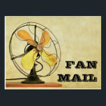 "Retro Fan Mail Post Card<br><div class=""desc"">A versatile retro-look ""Fan Mail"" post card to make your friends and family smile. There are so many uses for this humorous sentiment: say thanks, brighten up someone's day, send words of encouragement, let someone know how much they mean to you, get well/speedy recovery wishes, send to a celebrity, and...</div>"