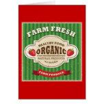 Retro Farm Fresh Poster Design Card
