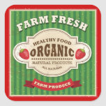 Retro Farm Fresh Poster Design Square Sticker