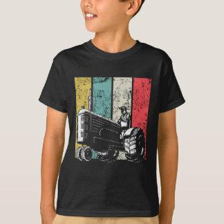 Retro Farming Dad Tractors Farmer Fathers Day T-Shirt