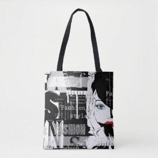 Retro Fashion All-Over-Print Tote Bag