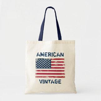 Retro Fashion American Vintage United States Flag Tote Bag