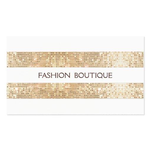 Retro Fashion Boutique Sparkly Gold FAUX Sequins Business