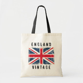 Retro Fashion England Vintage United Kingdom Flag Tote Bag