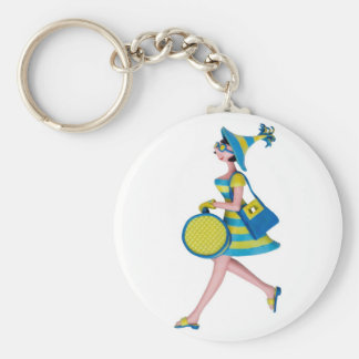 Retro Fashion Woman Keychain