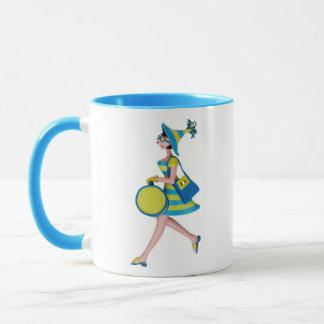 Retro Fashion Woman Mug