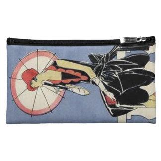 Retro Fashions Vintage Art Deco Lady Bagettes Cosmetic Bag