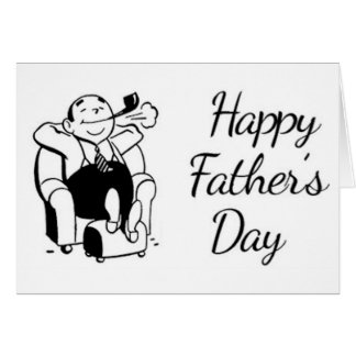 Retro Father's Day Dad Smoking Pipe Card