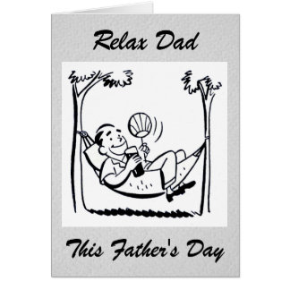 Retro Father's Day Dad's Hammock Greeting Cards