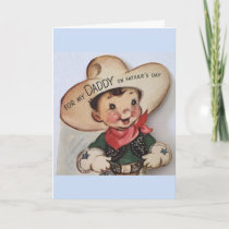 Retro Father's Day - From Daddy's Little Cowboy, Card