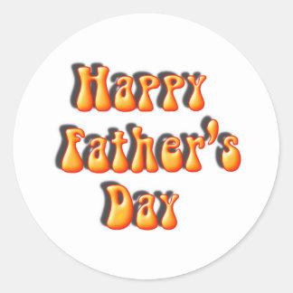 Retro Father's Day Text Classic Round Sticker