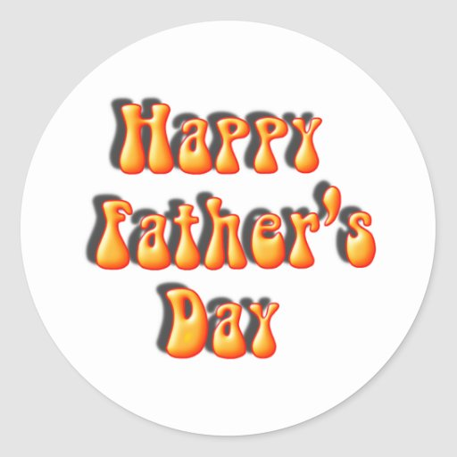Retro Father's Day Text Stickers