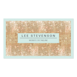 Retro FAUX Gold Sequins Beauty and Fashion Double-Sided Standard Business Cards (Pack Of 100)