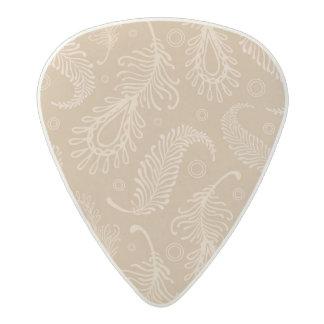 Retro-feater-pale-pattern Acetal Guitar Pick