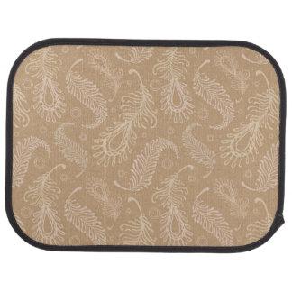 Retro-feater-pale-pattern Car Floor Mat