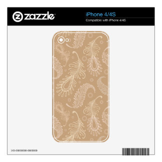 Retro-feater-pale-pattern Decals For The iPhone 4S