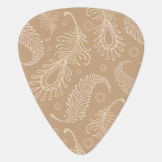 Retro-feater-pale-pattern Guitar Pick