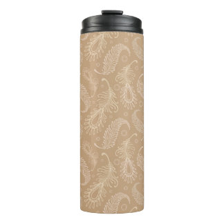 Retro-feater-pale-pattern Thermal Tumbler