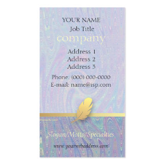 Retro Feather Abstract Giftwrap Profile Card Business Card