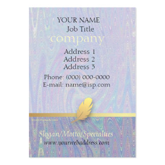 Retro Feather Abstract Giftwrap Profile Card Large Business Card