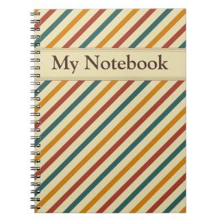 Retro Feel stripes Notebook