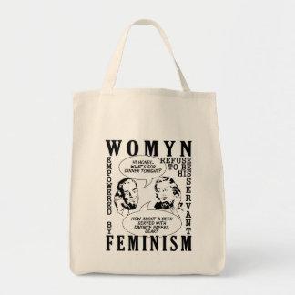 Retro Feminist Humor bags