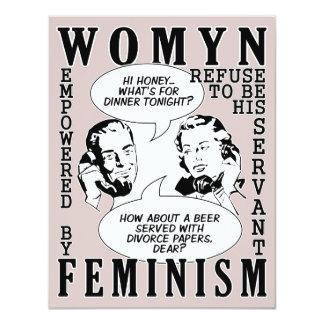 Retro Feminist Humor Divorce Party invitations