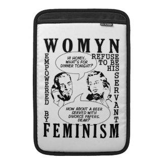Retro Feminist Humor MacBook Air / iPad sleeves
