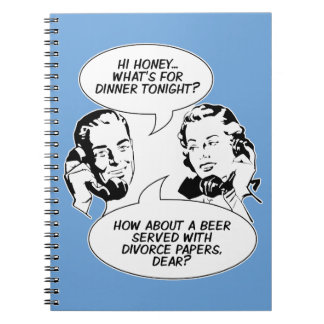 Retro Feminist Humor notebook