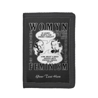 Retro Feminist Humor wallets