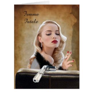 Retro Femme Fatale Diva - Smoking and Guns Card