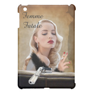 Retro Femme Fatale Diva - Smoking and Guns Cover For The iPad Mini