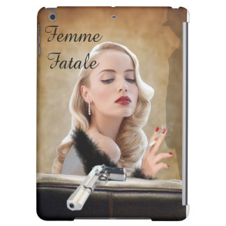 Retro Femme Fatale Diva - Smoking and Guns iPad Air Cases