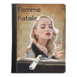 Retro Femme Fatale Diva - Smoking and Guns iPad Case