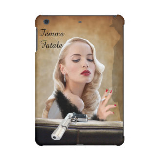 Retro Femme Fatale Diva - Smoking and Guns iPad Mini Cover