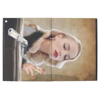 "Retro Femme Fatale Diva - Smoking and Guns iPad Pro 12.9"" Case"