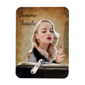 Retro Femme Fatale Diva - Smoking and Guns Magnet