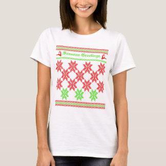 Retro Festive Christmas Holiday Ugly Jumper Style T-Shirt