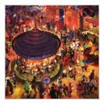 Retro Festive Party Carnival Nights Invitations