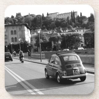 Retro Fiat 500 in Florence Coaster