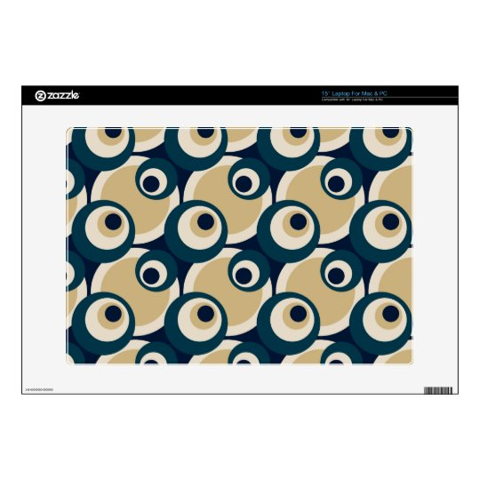 "Retro Fifties Abstract Art Skin For Laptop 15"" Laptop Decal"