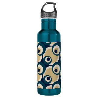 Retro Fifties Abstract Art Stainless Steel Water Bottle