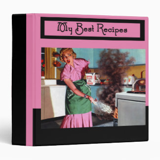 Retro Fifties Humorous Best Recipes 3 Ring Binder