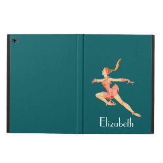 Retro Figure Skater In A Pink Outfit Personalized Powis iPad Air 2 Case
