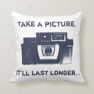 Retro Film Camera American MoJo Throw Pillow
