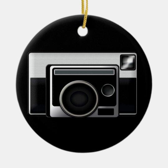 Retro Film Camera Ceramic Ornament